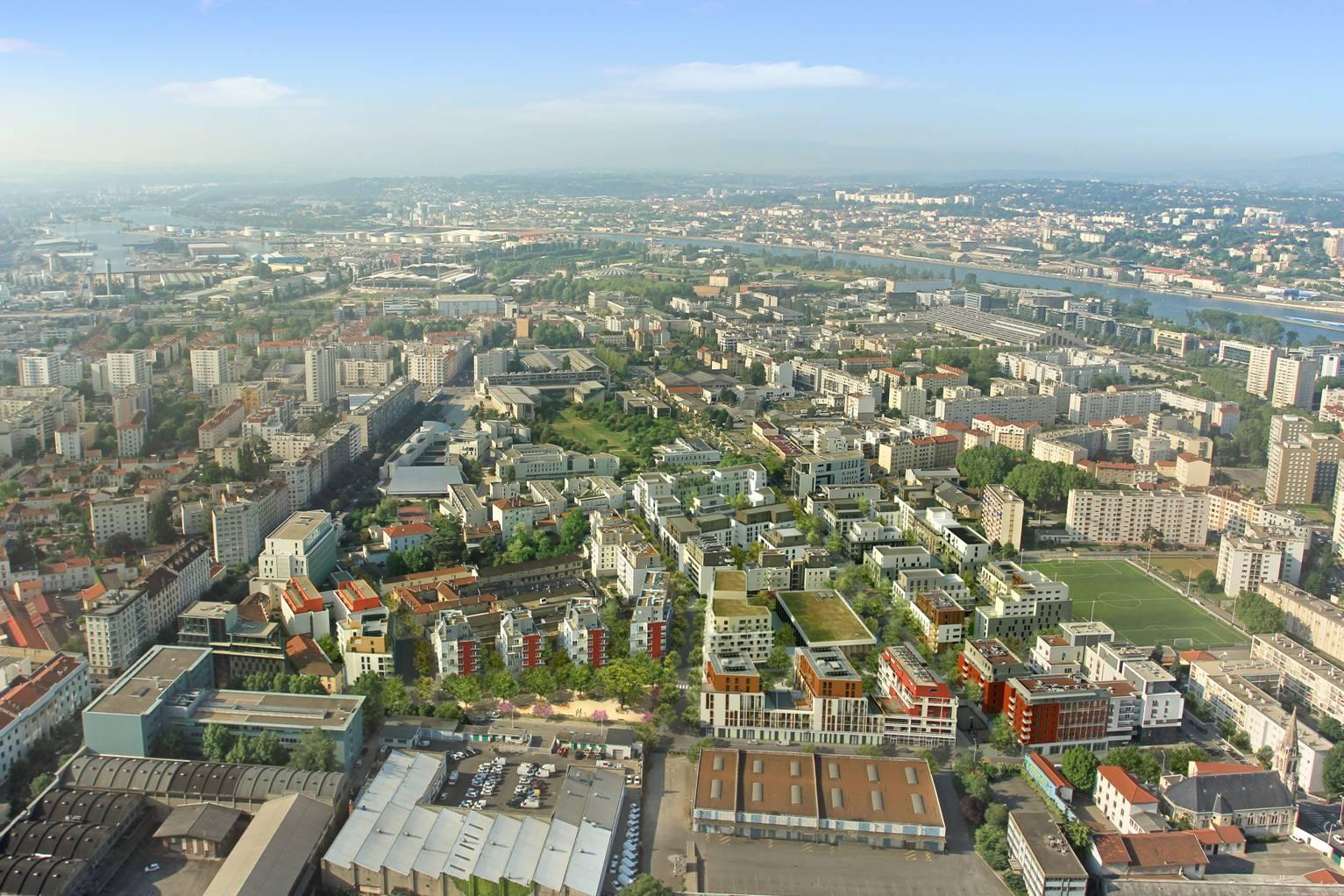 Quartier du Bon Lait, à Lyon 7ème